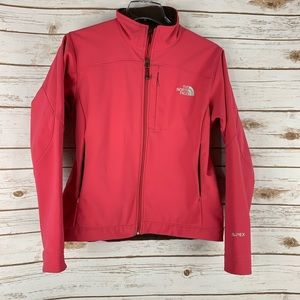 The North Face Apex Bionic Rust Brown Jacket small